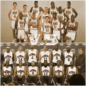 USA Dream Team 1992 Vs 2012