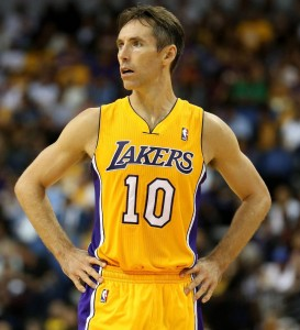 Steve Nash back in action for the Lakers
