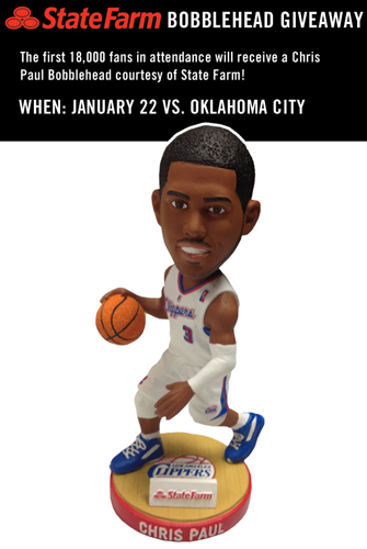 Chris Paul Clippers Bobblehead
