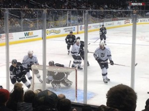 Quick make save at Kings Practice