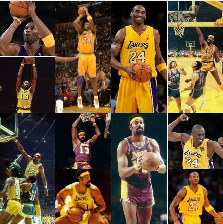 Kobe Bryant Wilt Chamberlain Lakers