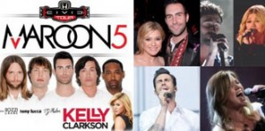 Maroon 5 and Kelly Clarkson to play Hollywood Bowl.