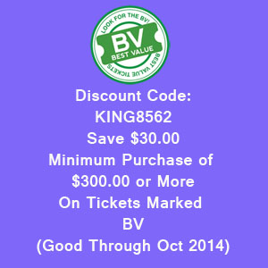 Save $30.00 on Kings Tickets