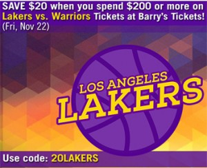 Lakers Tickets Discount