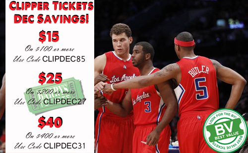 Clippers Tickets Discount