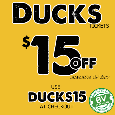 Ducks Tickets Discount Code