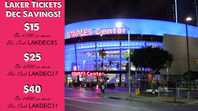 Discount Lakers Tickets December