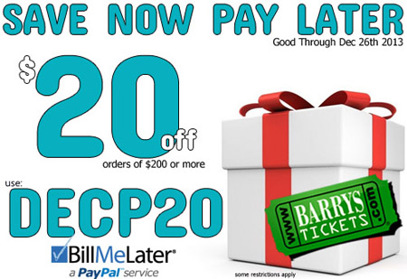Save $20 on your order