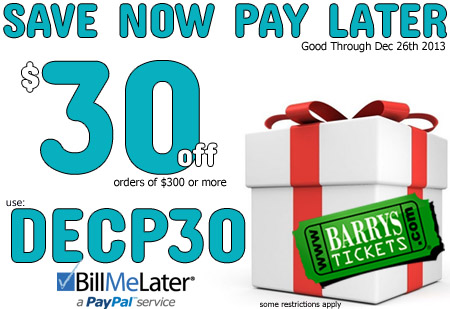 Save $30 on your order