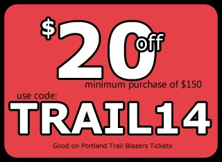 Discount Code Trail Blazers Tickets