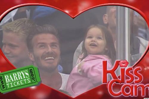 David Beckham Daughter Kiss Cam