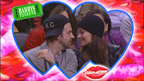 Jason Sudeikis Olivia Wilde Clippers Game