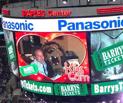 Bailey Kiss Cam Kings Game