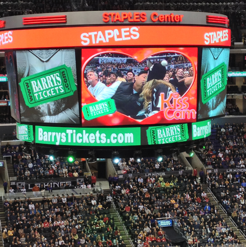 Barry's Tickets Kiss Cam Staples