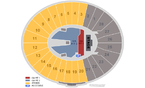 Rose Bowl seating chart