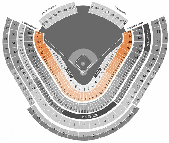 Field Box Dodger Stadium Seating Chart