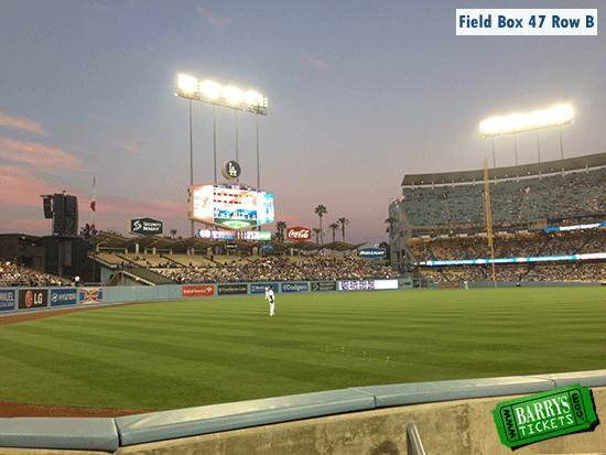 Dodger Stadium Field Box Views Sec 47