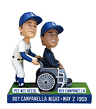 Dodgers Pee Wee Reese & Roy Campanella Bobblehead Night