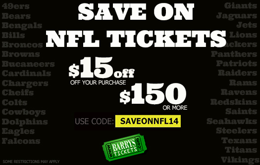 USE DISCOUNT CODE SAVEONNFL14