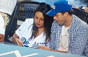 mila kunis ashton kutcher dodgers