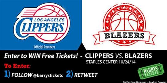 Clippers vs Blazers Tickets