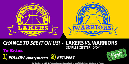Lakers Vs Warriors Tickets
