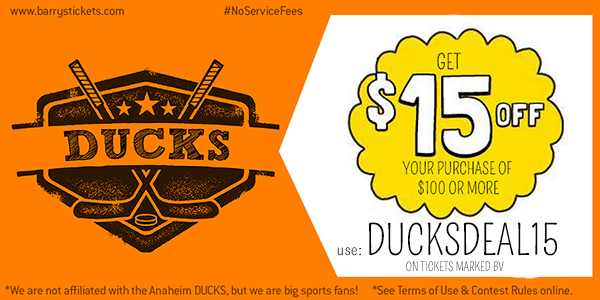 NHL Ducks Tickets discount code