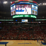 Barry's Tickets on the Clippers scoreboard staples center