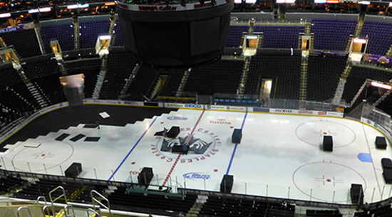 Changing Hockey Rink to Basketball Court Staples Center