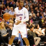 LA Clippers Chris Paul LA Clippers with Barry's Tickets Logo behind