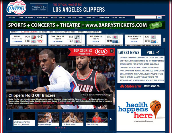 LA Clippers Tickets Official Partner Barry's Tickets