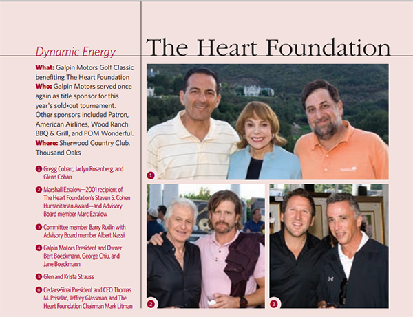 Barry Rudin of Barry's Tickets on the committee for the Heart Foundation at Cedars Sinai