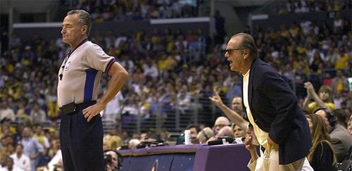 Jack Nicholson at Lakers Game