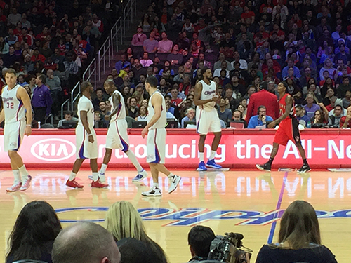 Clippers vs Raptors Staples Center