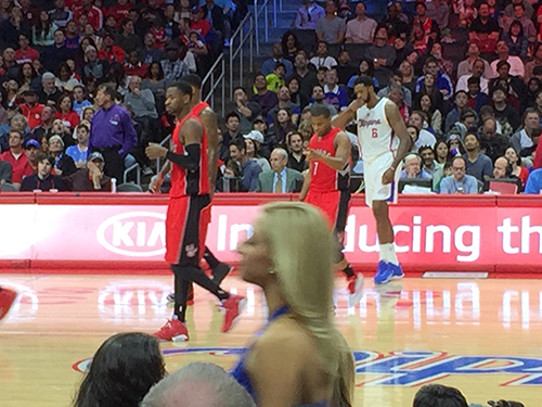 Raptors vs Clippers Staples Center