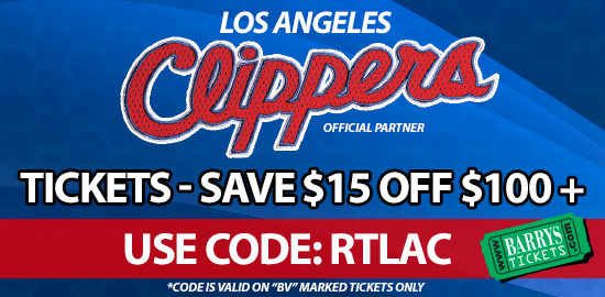 Discount Code Clippers Tickets