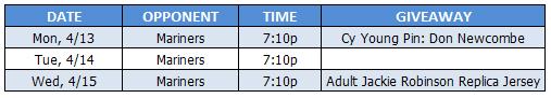 Dodgers vs Mariners Tickets