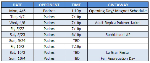 Dodgers vs Padres Tickets Opening Day
