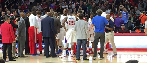 Clippers Raptors game staples center