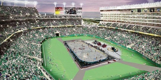 Levis Stadium Ice Rink