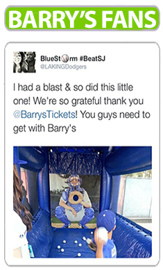 Barry's Tickets testimonials