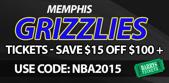 Memphis Grizzlies tickets discount code