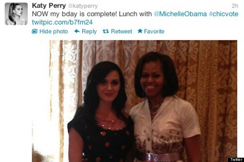 Katy Perry Obama Lunch
