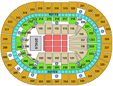 Concert Seating Chart Moda Center