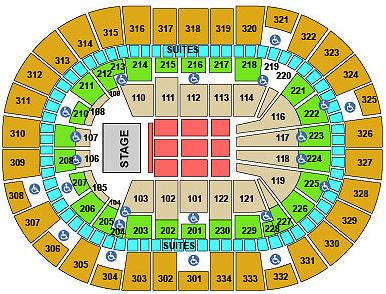 Concert Seating Chart Moda Center