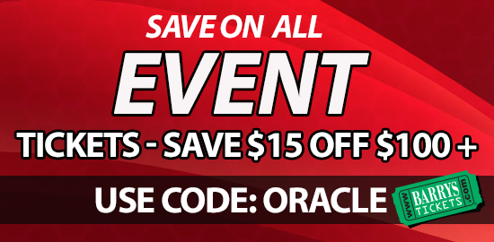 Discount code Oracle Arena Events