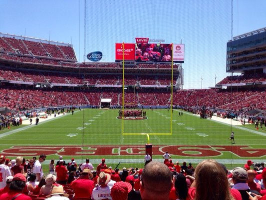 Levi's Stadium Sec 103 seating view
