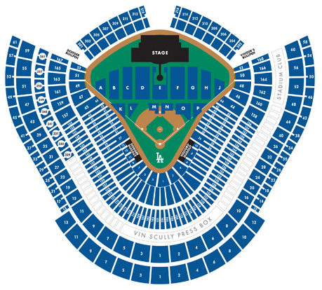 AC/DC Dodger Stadium Seating Chart on