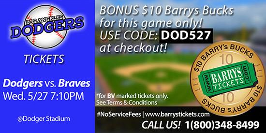 Dodgers Braves Tickets promo code