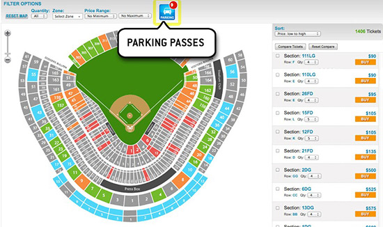 on dodger stadium parking lot map